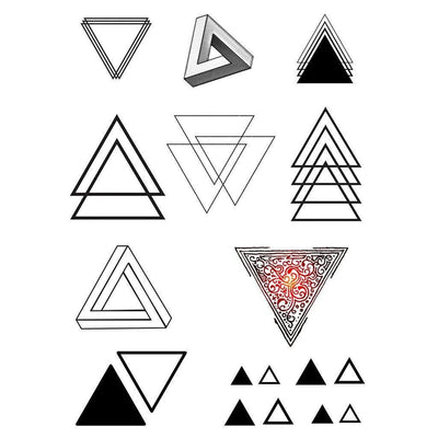 Triangles - Pack - ArtWear Tattoo