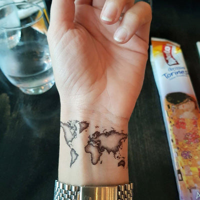 World Map - ArtWear Tattoo