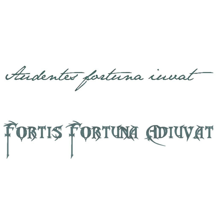 "Tatouage éphémère : ""Fortune favors the bold"" - Latin - ArtWear Tattoo France - Tatouage temporaire"