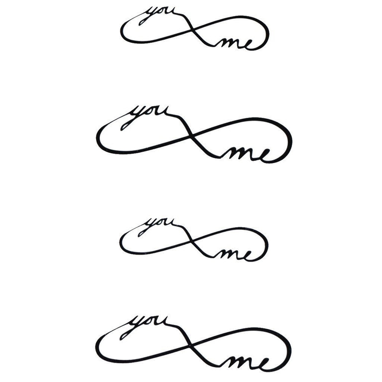"""You & Me"" Infinity - Pack - ArtWear Tattoo"