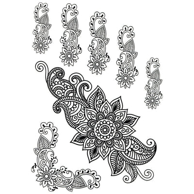 Tatouage éphémère : Henna Patterns Pack 2 - ArtWear Tattoo France - Tatouage temporaire