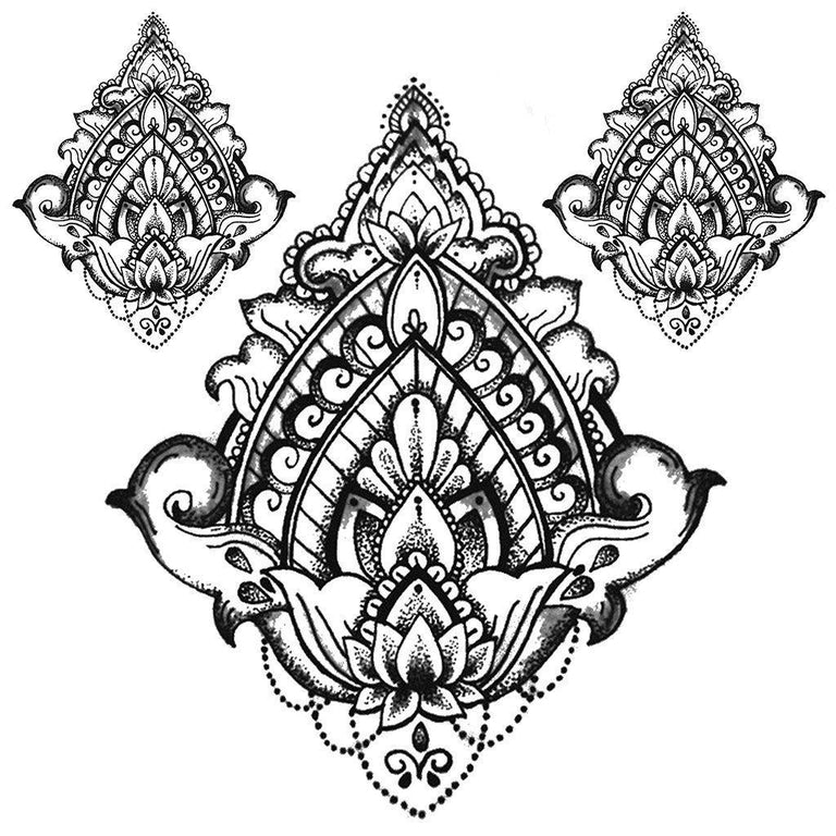 Tatouage éphémère : Lotus Cloud - Pack - ArtWear Tattoo - Tatouage temporaire