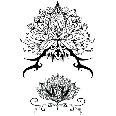 Sanskrit Lotus Flowers - Pack - ArtWear Tattoo