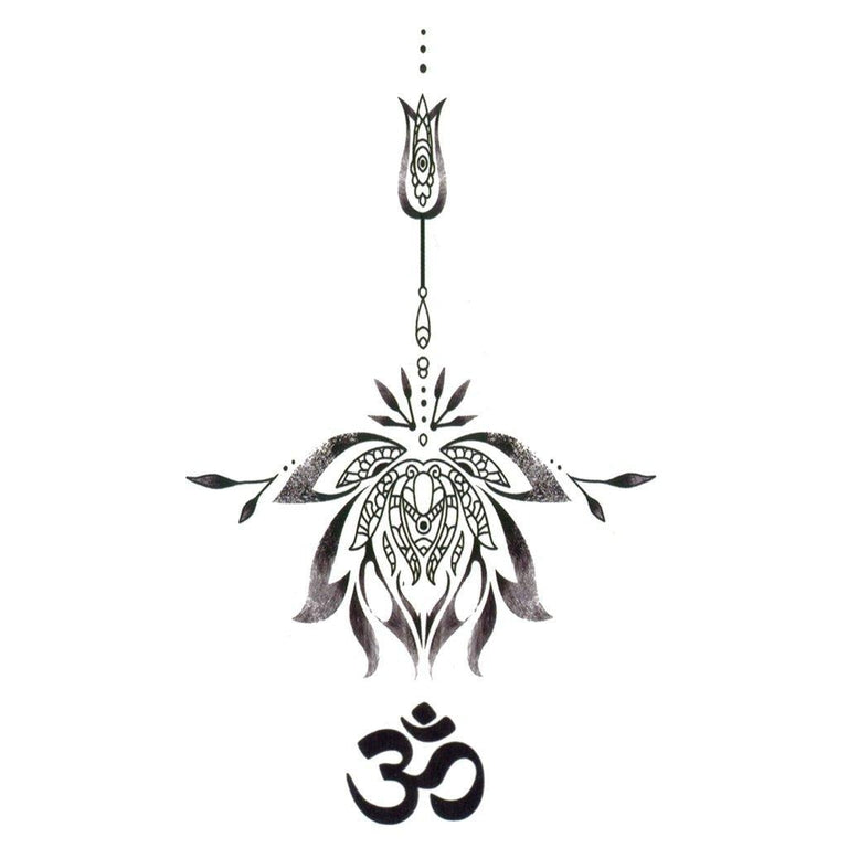 Small Om Lotus 2 - Pack - ArtWear Tattoo