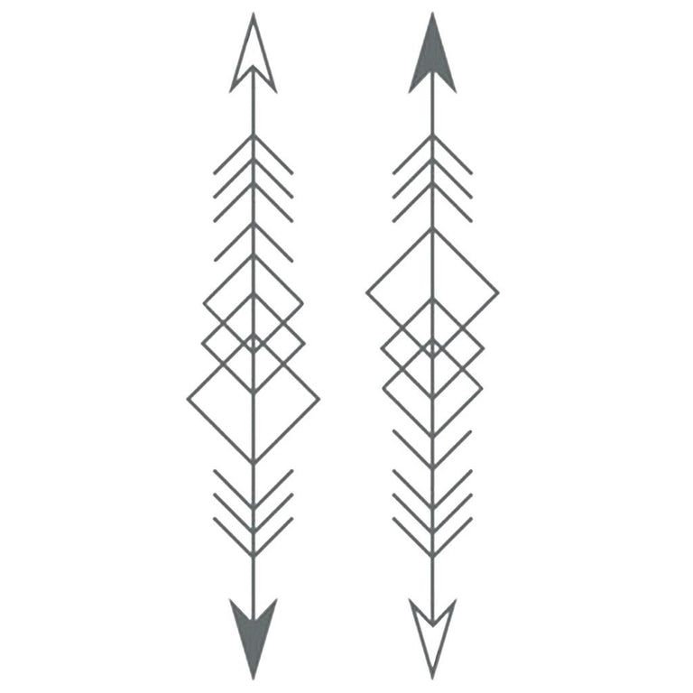Tatouage éphémère : Graphic Arrows - Pack - ArtWear Tattoo France - Tatouage temporaire