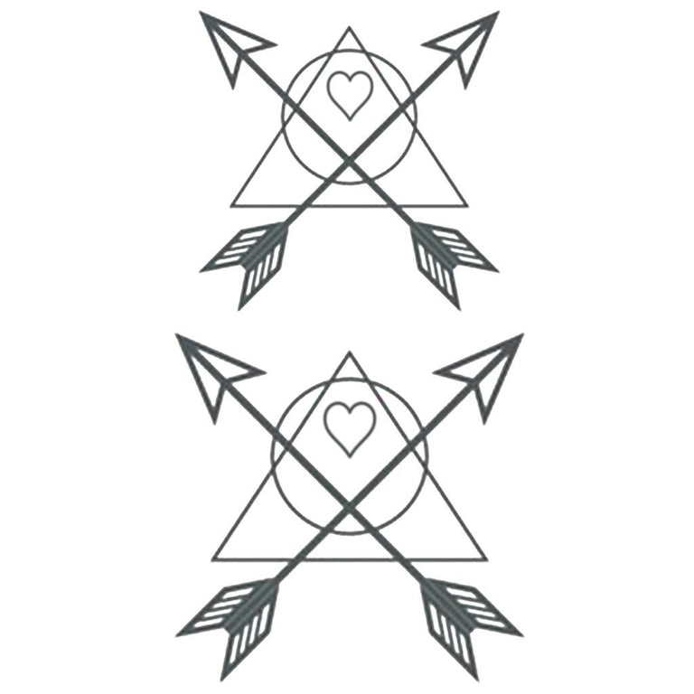 Minimalist Heart & Arrows - Pack - ArtWear Tattoo