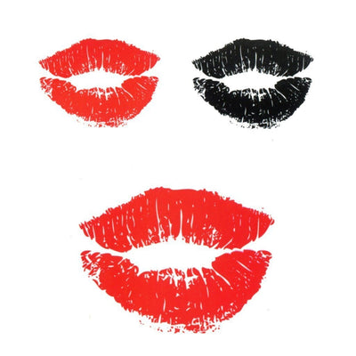 Tatouage éphémère : Black & Red Kisses - Pack - ArtWear Tattoo France - Tatouage temporaire