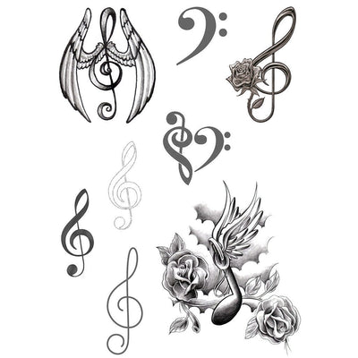 Music Notes - Pack - ArtWear Tattoo