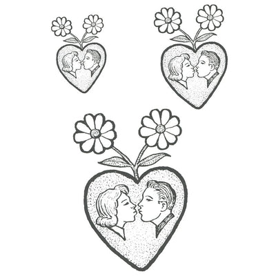Tatouage éphémère : Couple in a Heart - ArtWear Tattoo - Tatouage temporaire