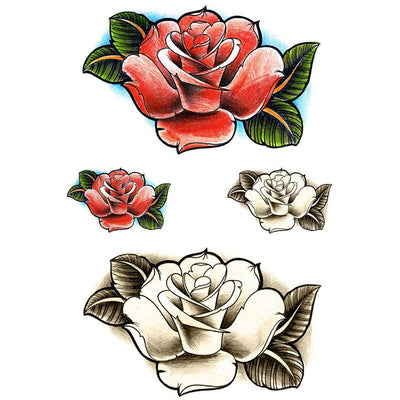 Red Old School Rose - Pack - ArtWear Tattoo