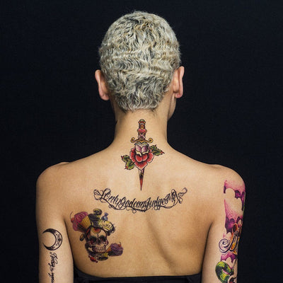 Spider Woman & Dagger - Pack - ArtWear Tattoo