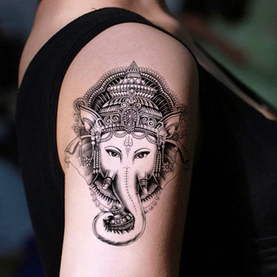 Tatouage éphémère : Elephant God Ganesha - ArtWear Tattoo France - Tatouage temporaire