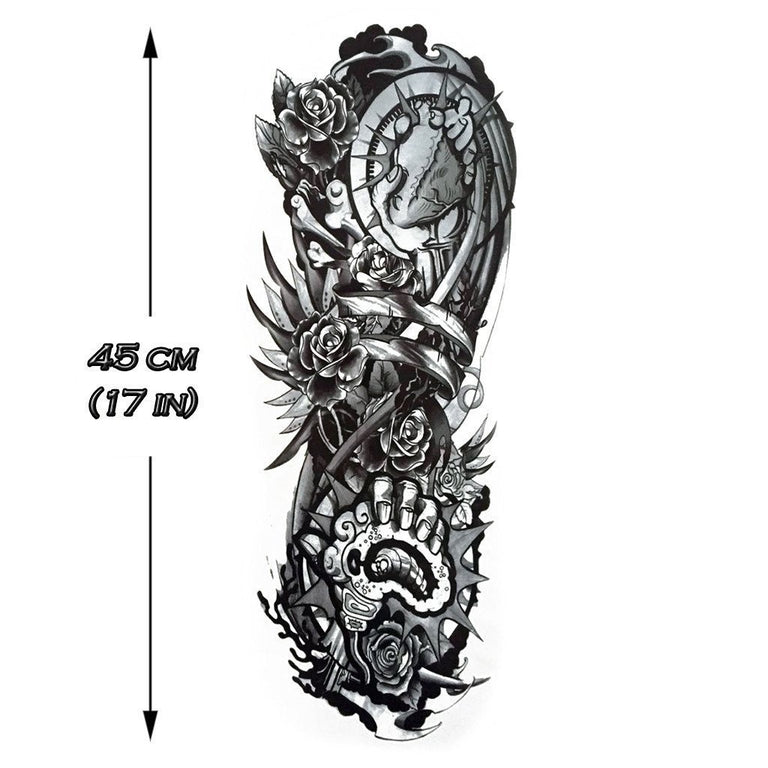Mecha Flowers Sleeve - ArtWear Tattoo