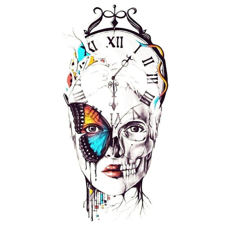 Clock Woman - ArtWear Tattoo