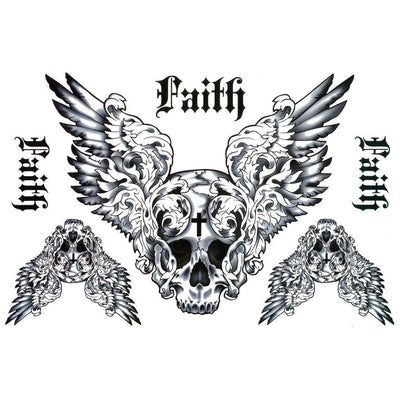 Tatouage éphémère : Faith Skull - ArtWear Tattoo France - Tatouage temporaire