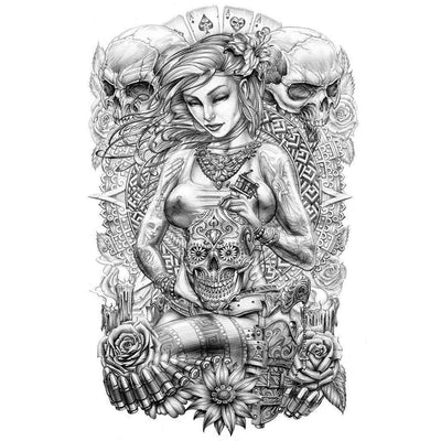 Tatouage éphémère : Female Tattoo Artist - ArtWear Tattoo - Tatouage temporaire