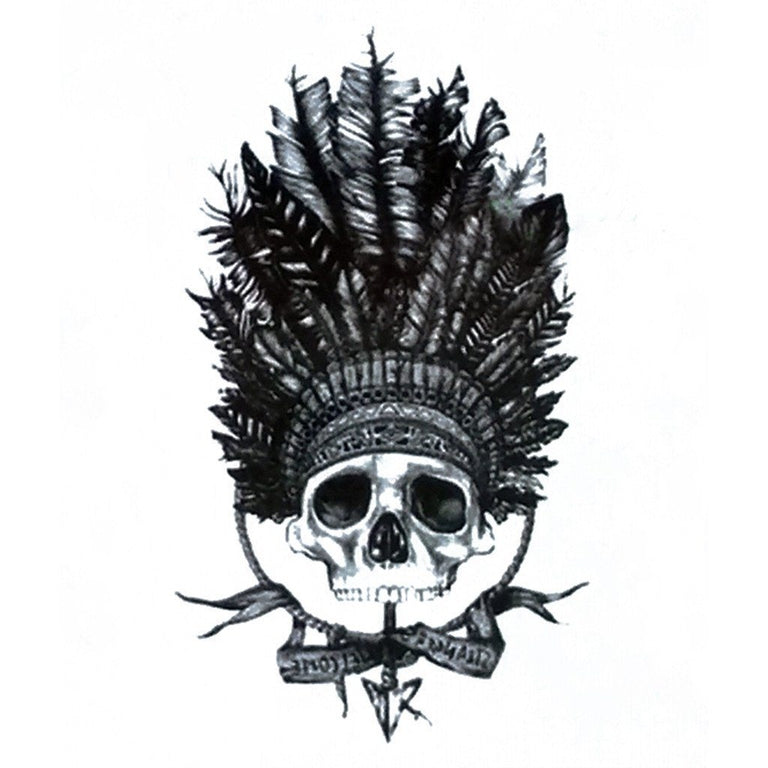Tatouage éphémère : Lil Indian Skull - ArtWear Tattoo France - Tatouage temporaire