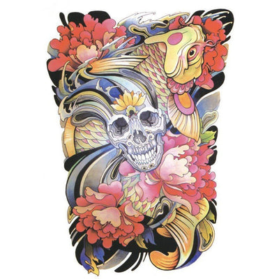 Skull - Color - ArtWear Tattoo