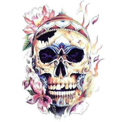 Skull Flowers 2 - ArtWear Tattoo