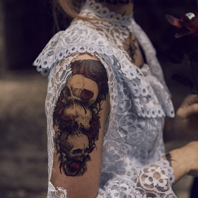 Skull & Roses 4 - ArtWear Tattoo