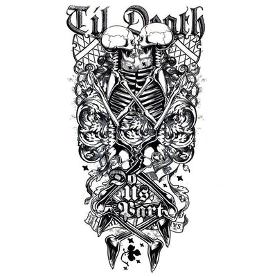 Tatouage éphémère : Until Death Do Us Part - ArtWear Tattoo - Tatouage temporaire