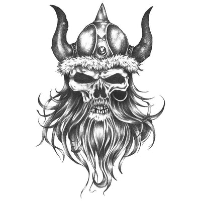 Viking Jarl Skull - ArtWear Tattoo