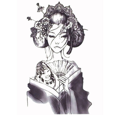 Tatouage éphémère : Japanese Geisha - ArtWear Tattoo France - Tatouage temporaire