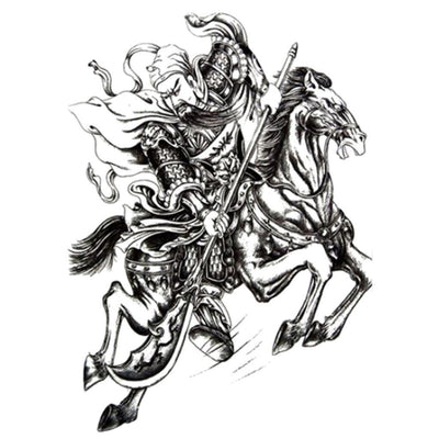 Tatouage éphémère : The Horseman Emperor - ArtWear Tattoo - Tatouage temporaire