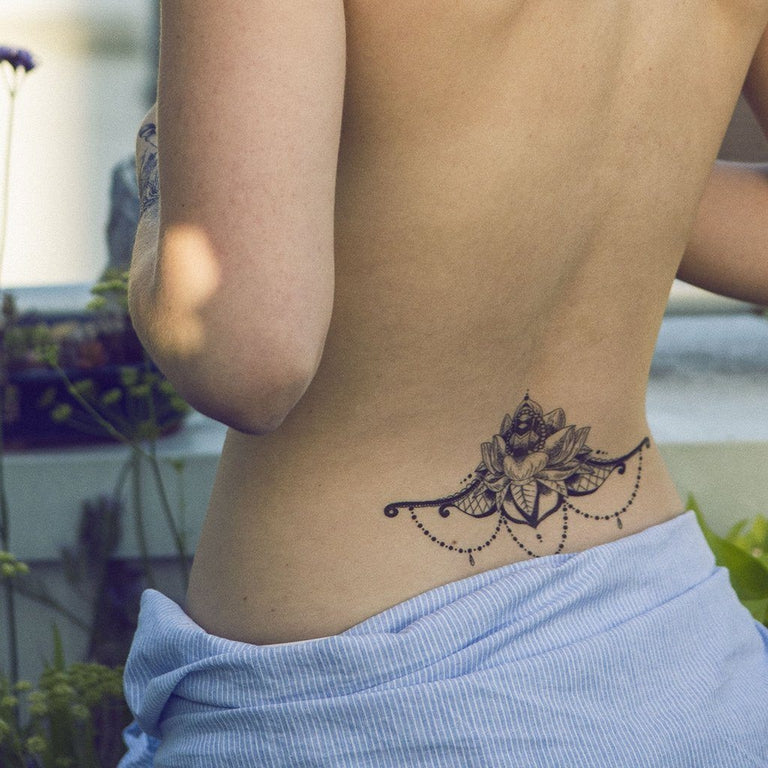 Spread Lotus Flower Underboob - ArtWear Tattoo