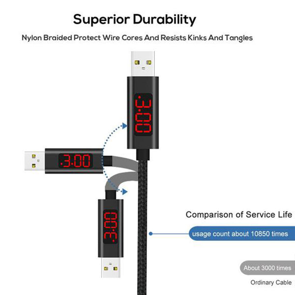 Charging Cable with LED Display