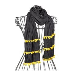 Scarf Pom Pom with TFA Logo  Black/Gold