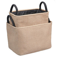 Burlap Bins/set of 2