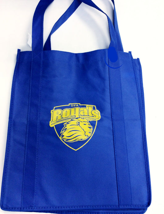 Crest Logo Shopping Bag Royal 13''W x 15''H x 8''D