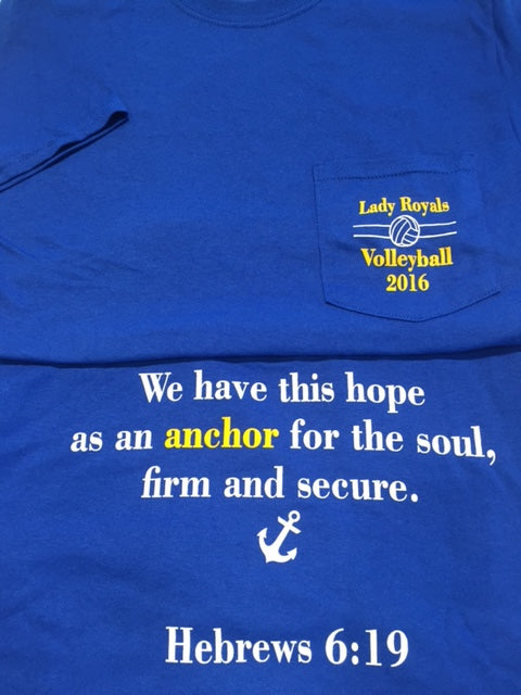Volleyball Pocket T - Lady Royals 2016