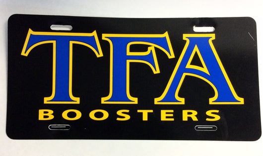 License Plate - TFA Boosters