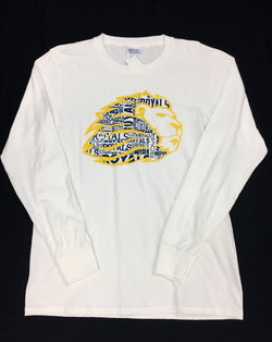 Wordle White T Long Sleeve