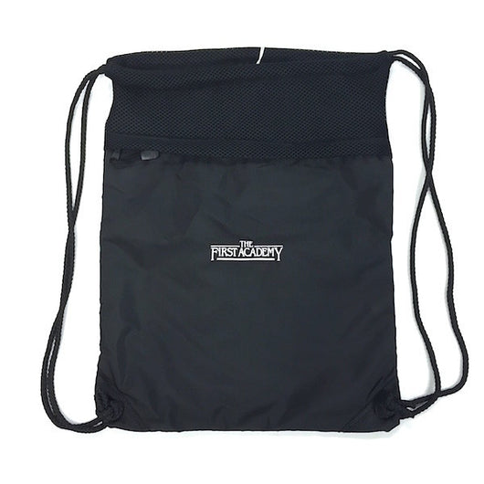 Cinch Bag Black The First Academy Logo