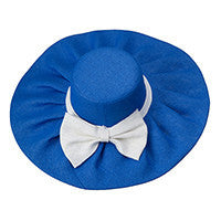 Sun Hat in royal/white