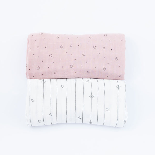 Bamboo Muslin & Burp Cloth Set