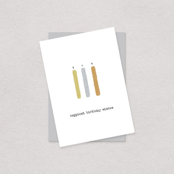 Happiest Birthday Wishes Card Blank