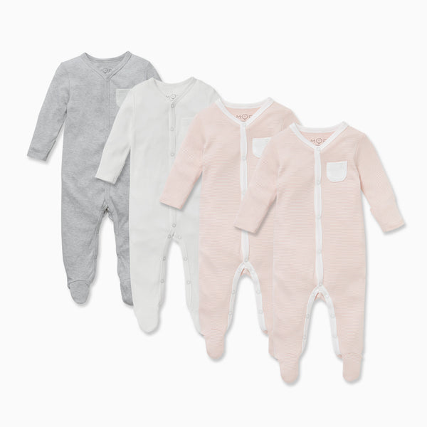 Snap-Up Sleep & Play One-Piece 4 Pack