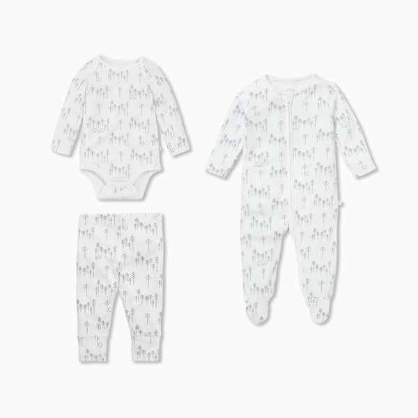 Forest Sleep & Play One-Piece, Bodysuit & Leggings Set