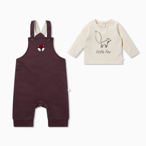 Fox Dungarees Overalls & Long Sleeve Tee Outfit