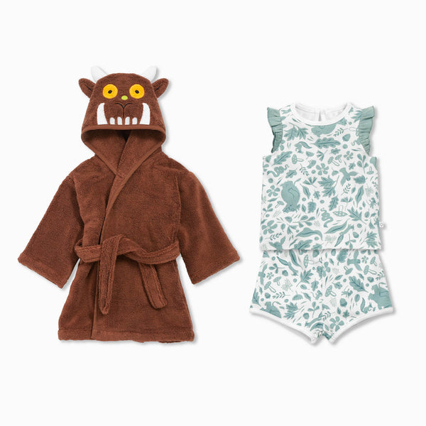 The Gruffalo Summer Bath & Ruffle Bed Set