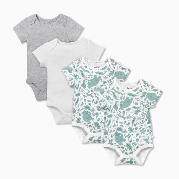 Gruffalo Leaf Green Short Sleeve Bodysuit 4 Pack