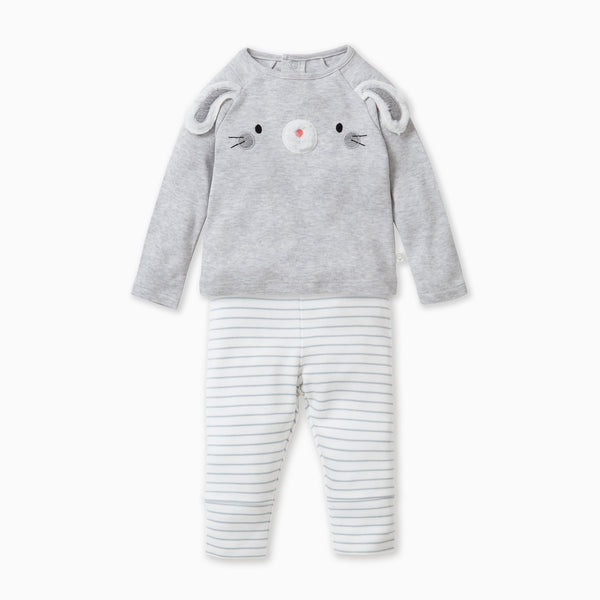 baby and toddler bunny day wear set