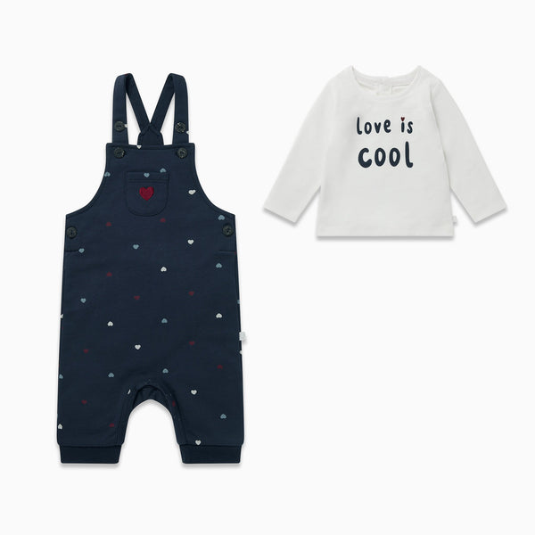 Hearts Overalls & Love Long Sleeve Tee Outfit