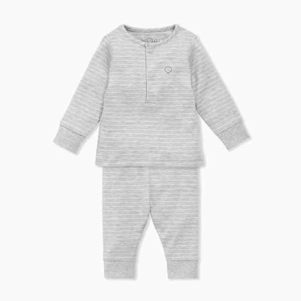 Grey & White Stripe Pajamas