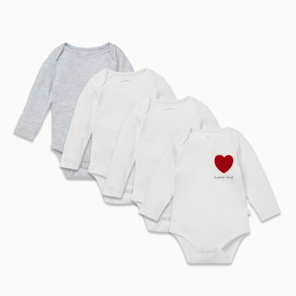 Kind Long Sleeve Bodysuit 4 Pack