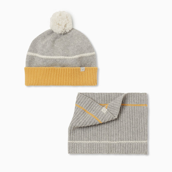 Knitted Snood & Hat Set